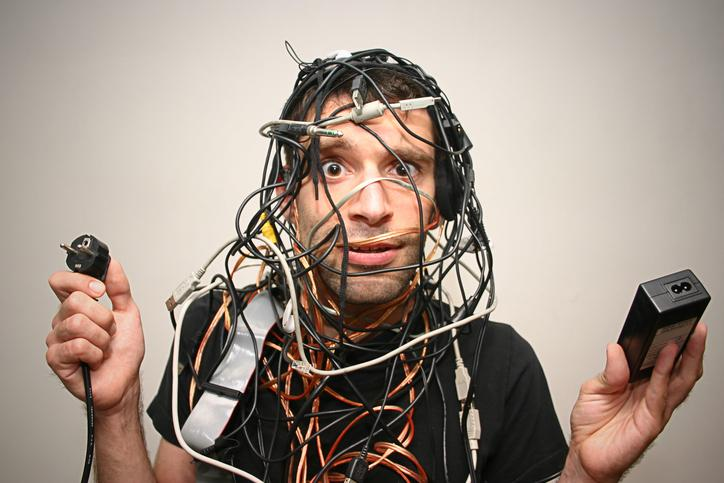 photo of confused guy covered with wires - ams-lms integration