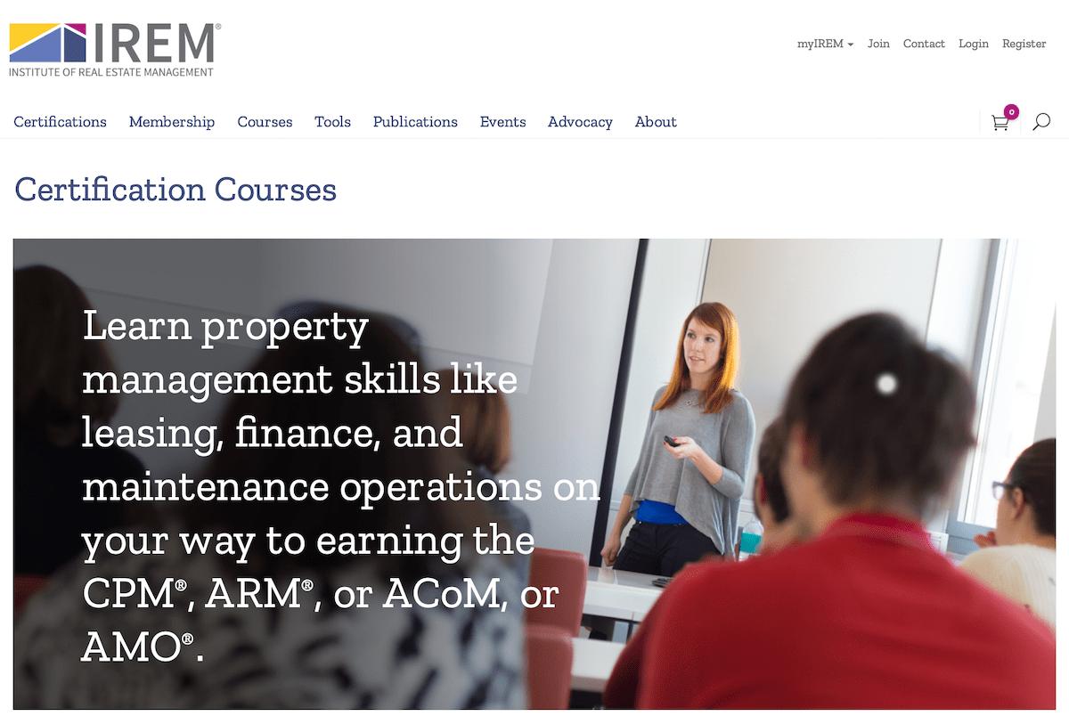 IREM Certification Courses