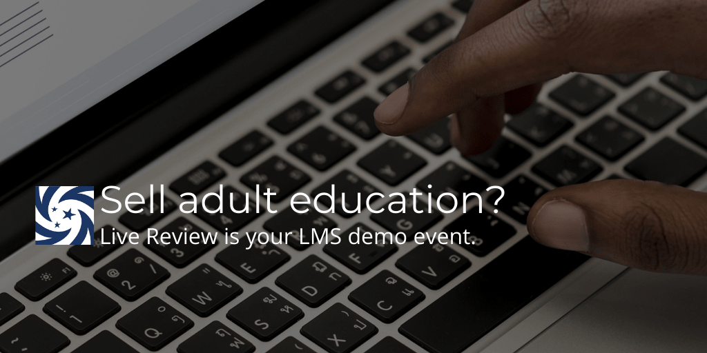 Hands on keyboard image for Live Review LMS free demo event
